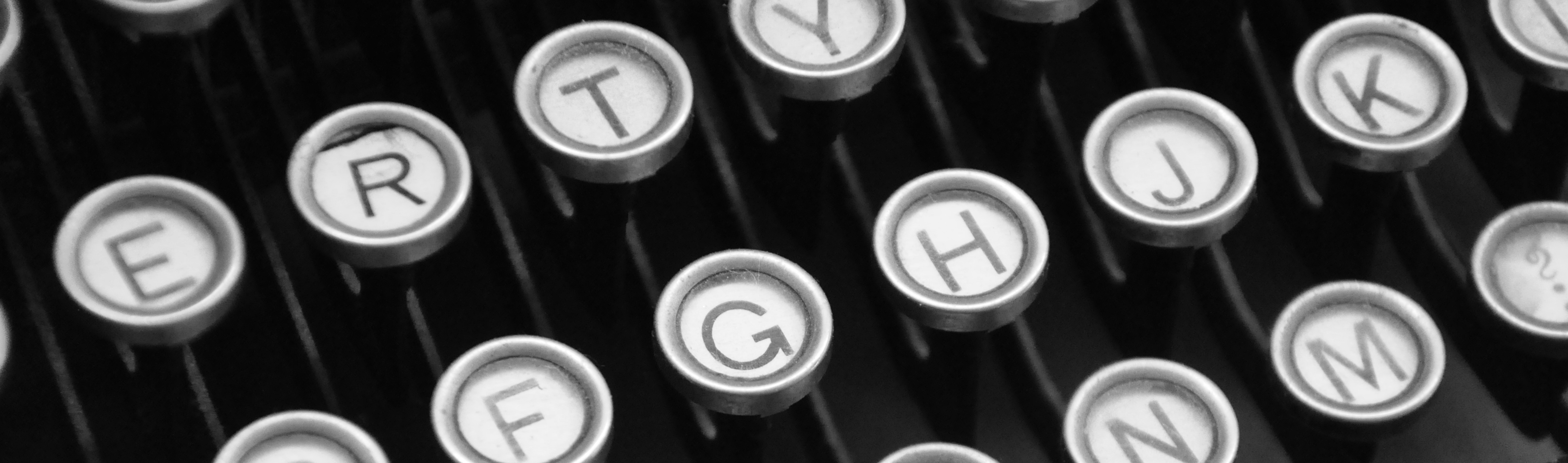 typewriter header